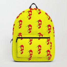 Skull - Red Backpack