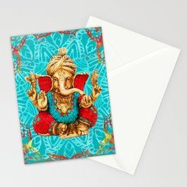 Lord Ganesha  - Mixed Media Stationery Cards