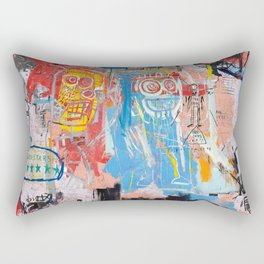 Basquiat Style 2 Rectangular Pillow