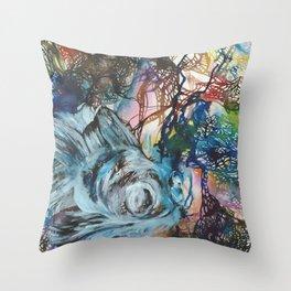 Black Moor Goldfish Throw Pillow