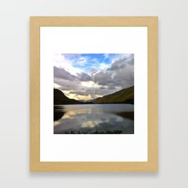 Kylemore Abbey Sunset Framed Art Print