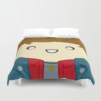dean winchester Duvet Covers featuring Dean by discojellyfish