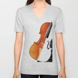 Violin Unisex V-Neck