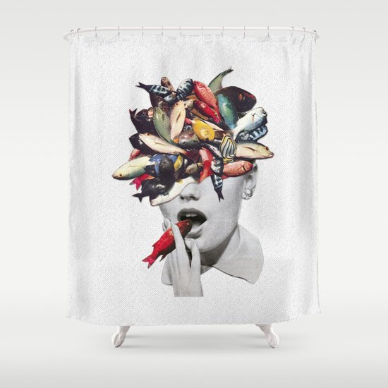 Ωmega-3 Shower Curtain