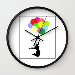 Flying to Happiness Wall Clock