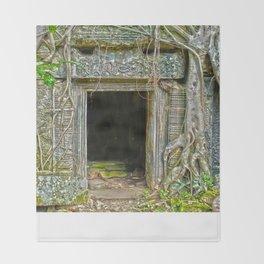 Tomb Raider Doorway Cambodia Throw Blanket