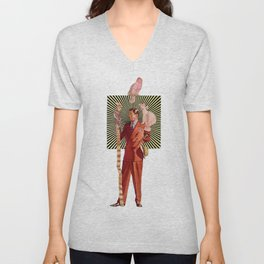 Bird Man Unisex V-Neck