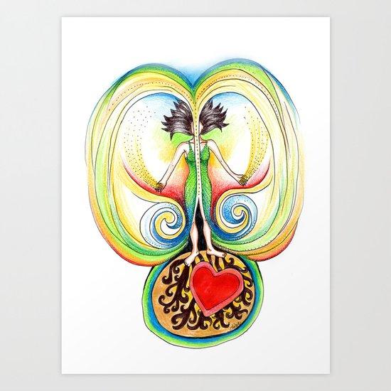 Energy Volcano Art Print