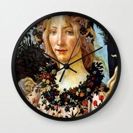 """Sandro Botticelli """"Primavera"""" Flora Wall Clock"""