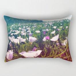 Field of Pink Evening Primrose - Texas Wildflowers Rectangular Pillow