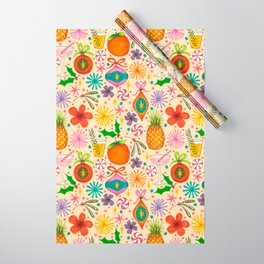 bright fruity christmas pattern Wrapping Paper
