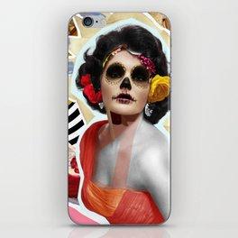 Golden Elizabeth Taylor (Sugar Skull Variant)  By Zabu Stewart iPhone Skin