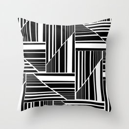 STRIPED PATCHWORK Throw Pillow
