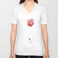 gravity V-neck T-shirts featuring Gravity by Tony Vazquez