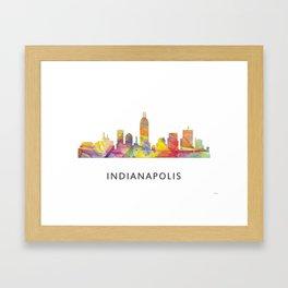 Indianapolis Indiana  Skyline WB1 Framed Art Print