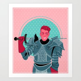 Lieutenant of the Bull's Chargers Art Print