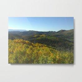 Colorful Forest Landscape Metal Print