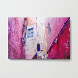 Pink Architecture in Tangier, Morocco Metal Print