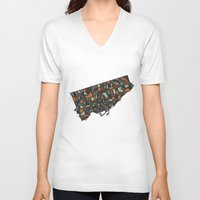 toronto V-neck T-shirts featuring Toronto by BigRedSharks
