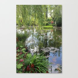 Claude Monet's Water Lilies in Spring Canvas Print