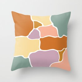 Abstract shapes pattern art Throw Pillow