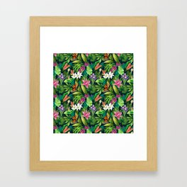 Tropical Lush Sanctuary, A Bohemian Paradise Framed Art Print