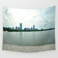 boston Wall Tapestries featuring Boston.  by Maria Logakis