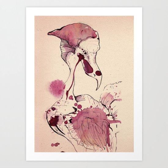 Hoploid Heron Art Print