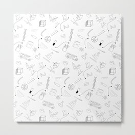 School pattern Metal Print