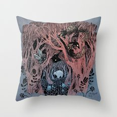 Midnight Grove Throw Pillow