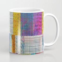 Rainbow Rectangle Tile Pattern Coffee Mug