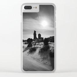 DESERT TRACKS Clear iPhone Case