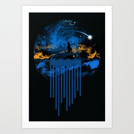 Hunters Stars Art Print
