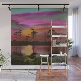 Florida Everglades, Twilight by E.G. Barnhill Wall Mural