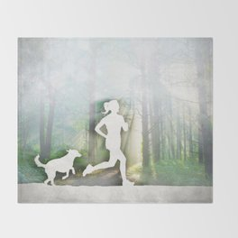 Forest Run Throw Blanket