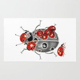 Siege of ladybugs Rug