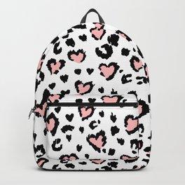 Leopard Spots & Hearts Backpack