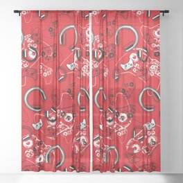 Gamers-Red Sheer Curtain