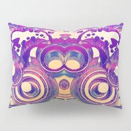 Retro 3D Rings Pillow Sham