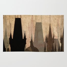 Vintage Made Modern: Cityscape Movie Poster Style Rug