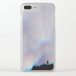Stuck together pieces Clear iPhone Case