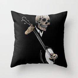 Skullboys' Banjo Blues Throw Pillow