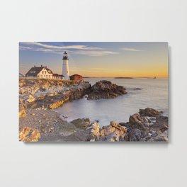 II - Portland Head Lighthouse, Maine, USA at sunrise Metal Print