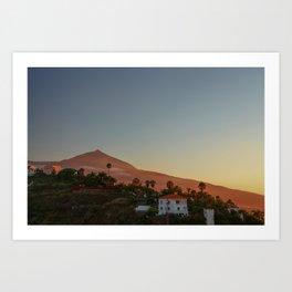 Vulcano Teide Art Print