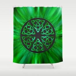 Celtic Knot Star Flower Shower Curtain