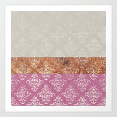 Layers Damask Rose Art Print