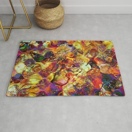 V15 Lovely Traditional Moroccan Pattern Colored Design Waves. Rug