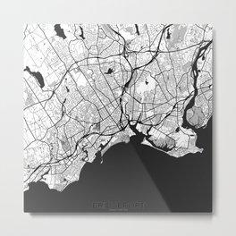 Bridgeport Map Gray Metal Print