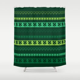 Clover Borders Pattern Shower Curtain