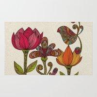 garden Area & Throw Rugs featuring In the garden by Valentina Harper